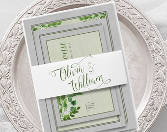 Wedding Invitations - Ancient Garden (Style 13975)