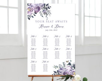 Seating Chart - Lavender Breeze (Style 13871)