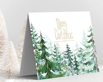 Holiday Greet Card Set - Christmas Forest (Style 14000)
