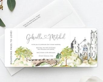 Castle Romance (Style 13960) - Ticket Invitations
