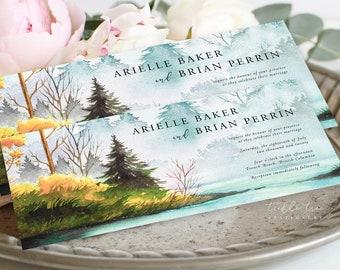 Wedding Invitations (DEPOSIT) - Bay Shores (Style 13906)