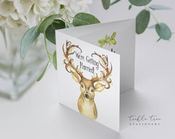 Deer Forest - Trifold Invitations (Style 13684)