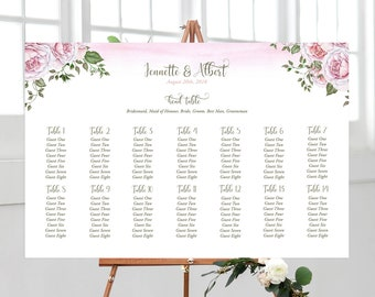 Seating Chart - Vintage Rose (Style 13818)