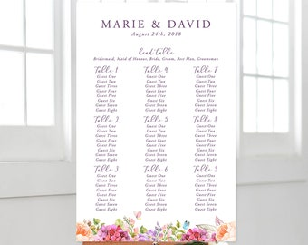 Printable Seating Chart - Summer Bloom (Style 13570)