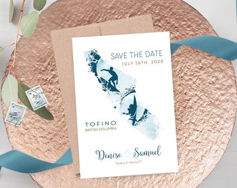 Save the Date Cards - Surfer Wanderlust - Vancouver Island, Destination Wedding (Style 13883)