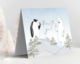 Holiday Greeting Card Set - Cheers to the New Year! (Style 13999)