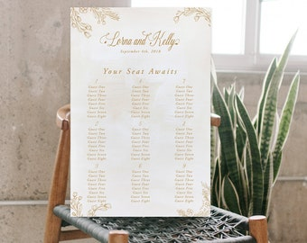 Seating Chart - Botanical Sands (Style 13831)