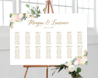 Seating Chart - Blush & Bloom (Style 13870)