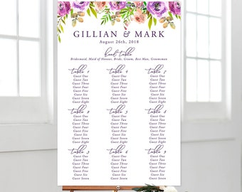 Printable Seating Chart - Peony Love (Style 13764)