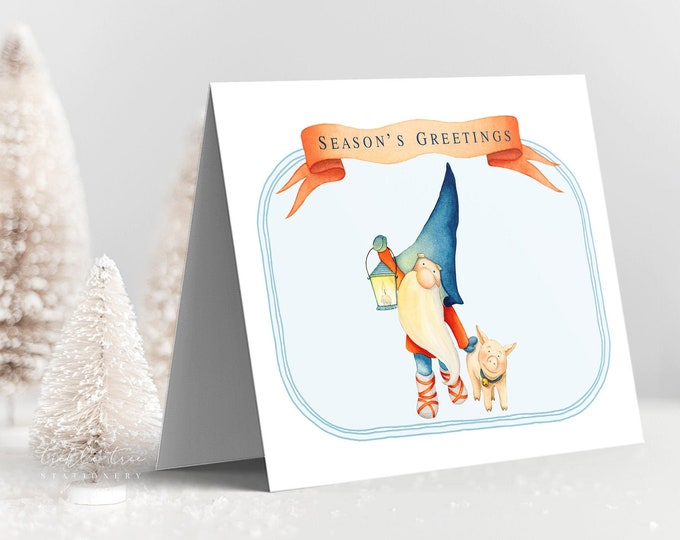 Holiday Greet Card Set - Christmas Gnome (Style 13994)
