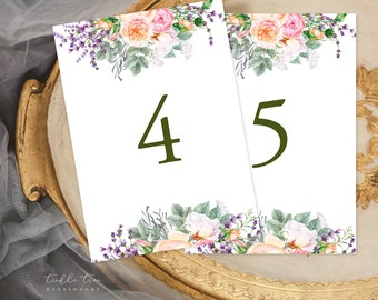 Table Number Cards - Country Charm (Style 13759)