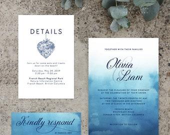 Wedding Invitations - Ocean Falls (Style 13651)