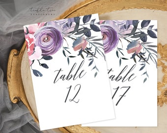 Table Number Cards - Lavender Whisper (Style 13751)