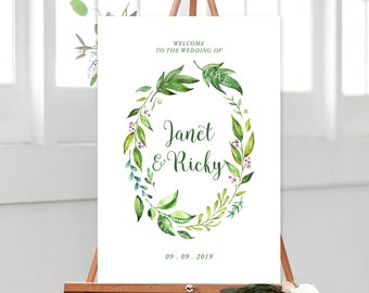 Welcome Sign/Design & Printing or Printable File - Rainforest Garden (Style 13701)