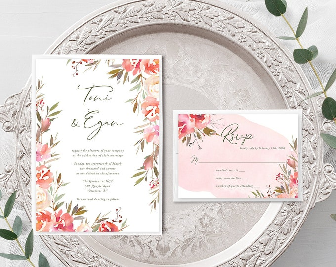 Wedding Day In the Park (Style 13976) - Wedding Invitation + RSVP