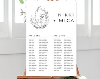 Seating Chart/Design & Printing or Printable File - Rustic Simplicity (Style 13956)