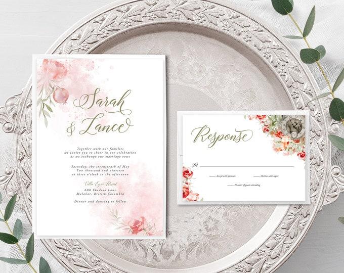 Mystic Garden (Style 13830) - Wedding Invitation + RSVP