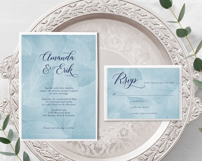 West Coast Whisper (Style 13934) - Wedding Invitation + RSVP