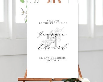 Welcome Sign/Design & Printing or Printable File - Modern Simplicity (13957)