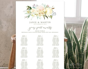 Seating Chart/Design & Printing or Printable File - White Summer (Style 13816)