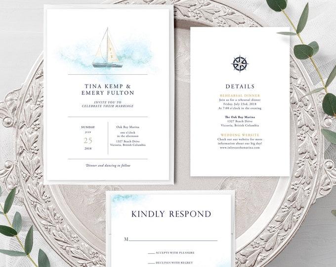 Marina Bay (Style 13795) - Wedding Invitation + RSVP + Insert