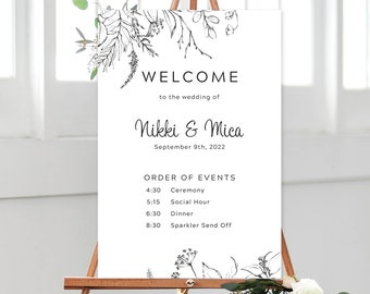 Order of Events/Design & Printing or Printable File - Rustic Simplicity (Style 13956)