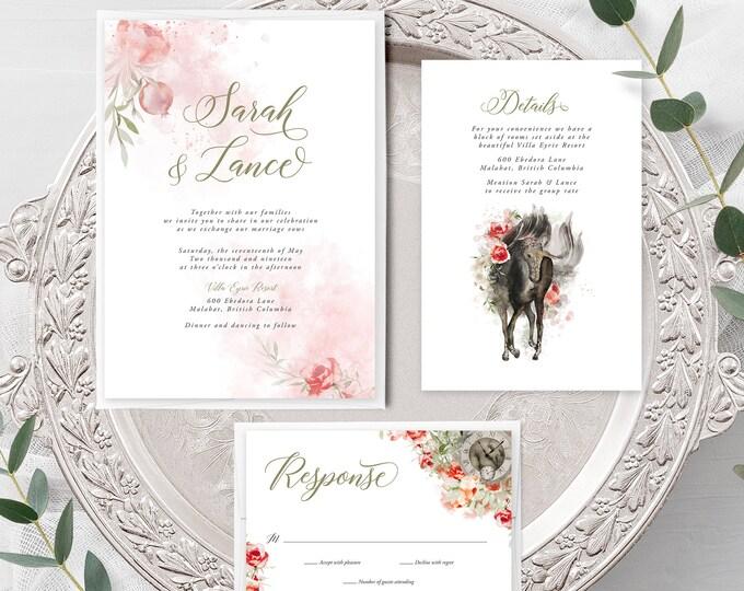 Mystic Garden (Style 13830) - Wedding Invitation + RSVP + Insert