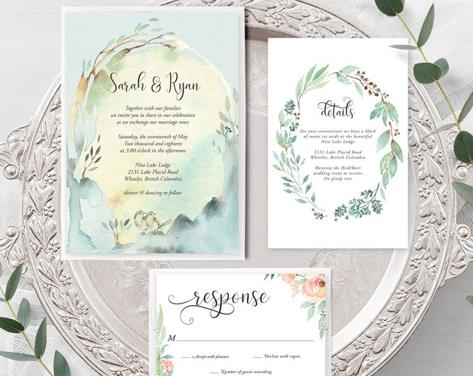 Nature's Dreamers (Style 13821) - Wedding Invitation + RSVP + Insert