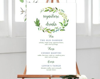 Bar Sign/Design & Printing or Printable File - Rainforest Garden (Style 13701)