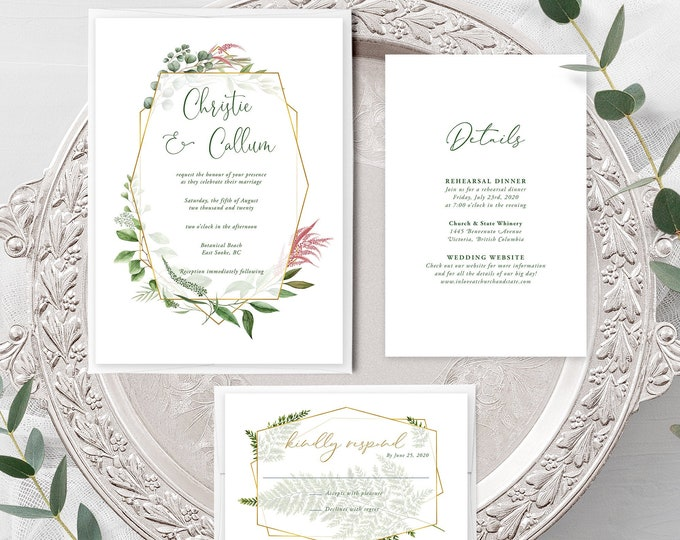 Botanical Garden (Style 13910) - Wedding Invitation + RSVP + Insert