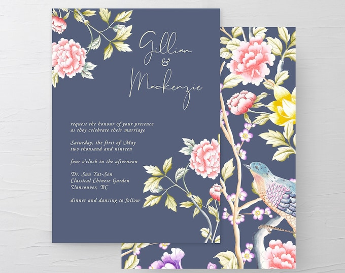 Chinoiserie Motif (Style 13860) - Wedding Invitations