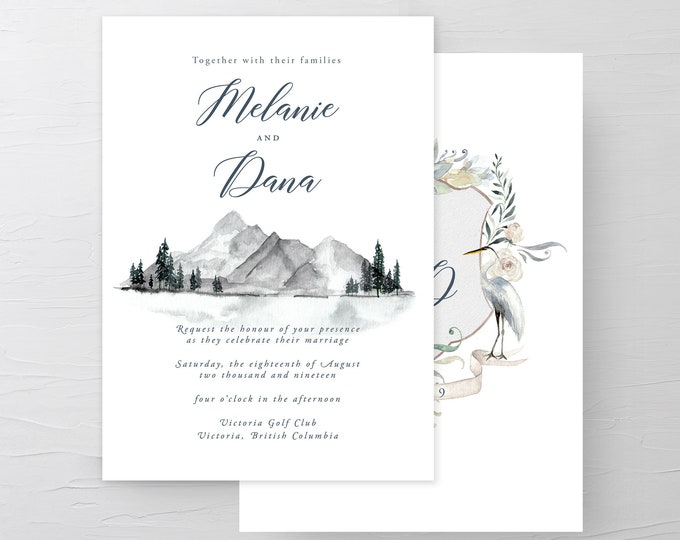 Water's Edge (Style 13917) - Wedding Invitations