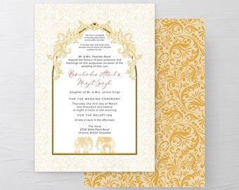 Temple Door (Style 13972) - Wedding Invitations