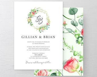 Wedding Invitation Suite/Design & Printing - Country Charm (Style 13798)