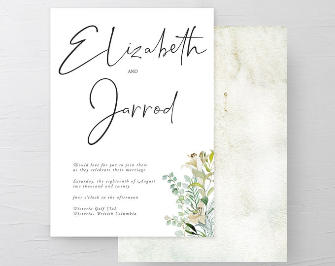Simple Greenery (Style 13951) - Wedding Invitations