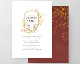 Birds in Flight (Style 13971) - Wedding Invitations