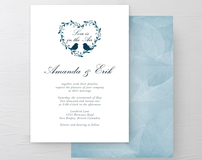 Love is In the Air (Style 13519) - Wedding Invitations