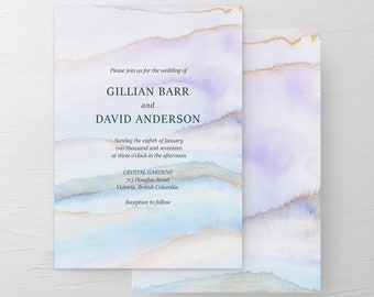 Wedding Invitation Suite/Design & Printing - Desert Sands (Style 13728)