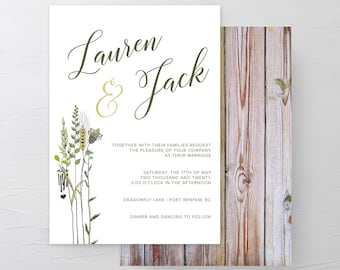 Wild Meadow (Style 13210) - Wedding Invitations