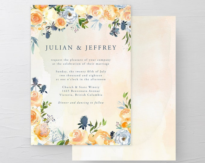 Thistle and Bloom (Style 13796) - Wedding Invitations