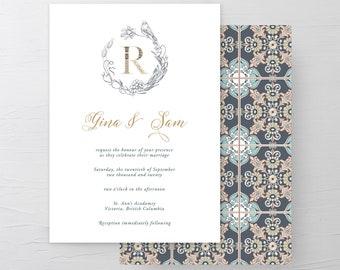 Wedding Invitations/Invitation Suites - Moroccan Style (13958)