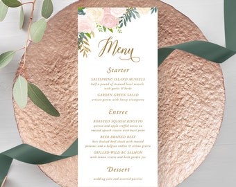 Menus/Design & Printing - Blush and Bloom (Style 13870)