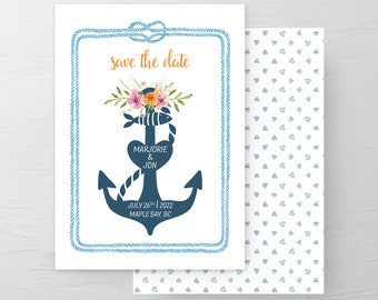 Anchored With Love (Style 13508) - Save the Dates