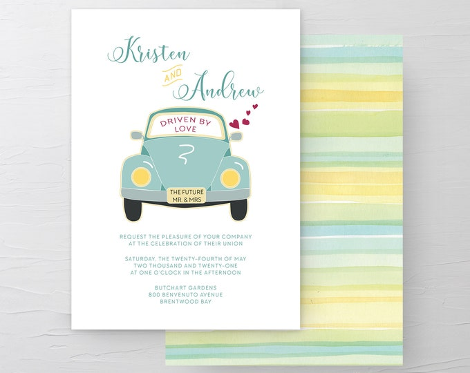 Driven by Love (Style 13633) - Wedding Invitations