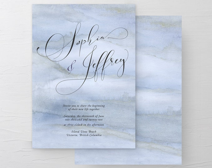 Blue Sands (Style 13761) - Wedding Invitations