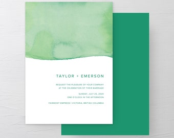 Rainforest Paint Dip (Style 13968) - Wedding Invitations