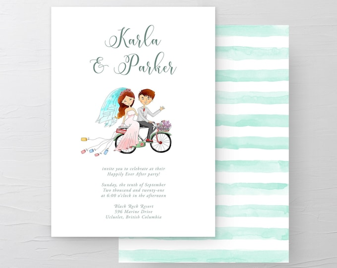 We're Getting Hitched (Style 13501) - Wedding Invitations