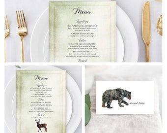 Reception Stationery Package (DEPOSIT) - Rustic Woods (Style 13768)