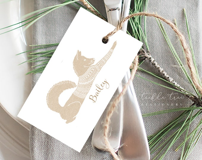 Simple Woodlands Collection (S-13002) - Christmas Gift Tags