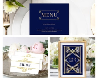 Reception Stationery Package (DEPOSIT) - The Great Gatsby (Style 13875)